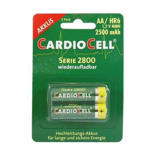 Cardiocell – 2800 Serie AA HR6 2500mAh 1,2V NiMH Akku – 2er Blister