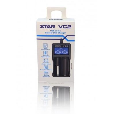 XTAR - Ladegerät VC2 USB Li-Ion Battery LCD Charger