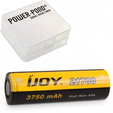 "1x iJoy 21700 3,6V - 3,7V 3750 mAh 40A Li-Ion Akku inkl. Akkubox ""POWER-POND"""