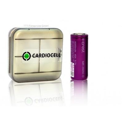 Efest – IMR26650 5000mAh 3,6V – 3,7V 18A Li-Ionen Akku  - 1 Stück inkl. CardioCell Box
