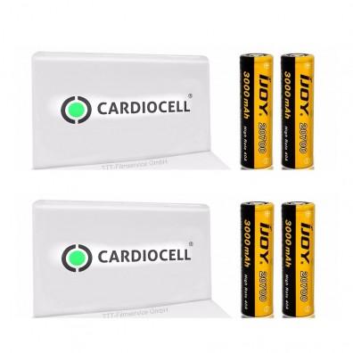 4x iJoy 20700 3,6V - 3,67V 3000mAh 40A Lithium Ionen Akku inkl. 2x Cardiocell Akkubox