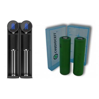Efest - SLIM K2 Ladegerät inkl. 2x Sony US18650VTC5A 35A 2600mAh und CardioCell Akkubox
