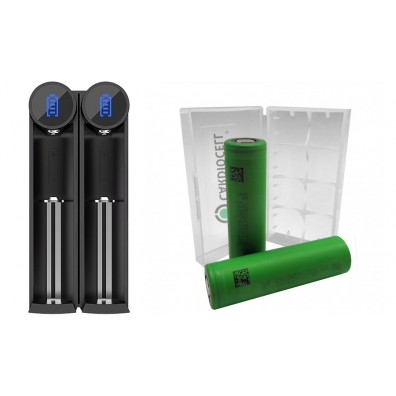 Efest-  SLIM K2 Ladegerät inkl. 2x Sony US18650VTC6 30A 3120mAh und CardioCell Akkubox