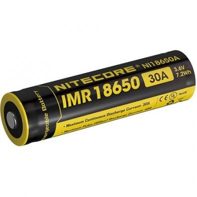 NiteCore - IMR 18650 2000mAh 3.6 - 3,7V 30A Li-Ion Akku - 1 Stück
