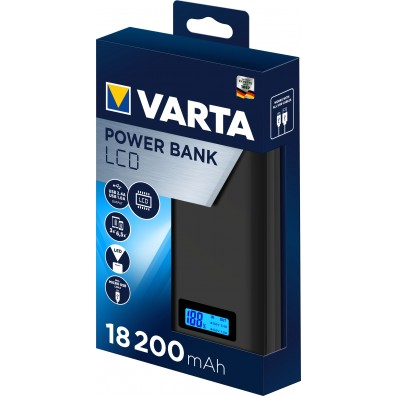 Varta -  Portable LCD Power Bank 18200mAh 57972 + mit USB Ladekabel