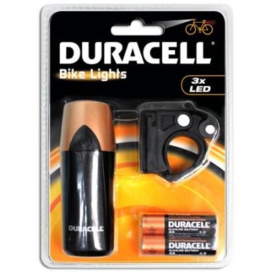 Duracell - Fahrrad Leuchte F01 mit 3 LED - inkl. Batterien