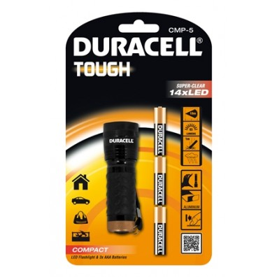 Duracell Flashlights Tough CMP-5 Compact-Serie in 1er-Blister