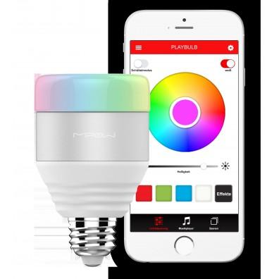 MiPow Playbulb Smart LED-Glühbirne mit Farbwechsel, App-Steuerung und Gruppenfunktion, weiß