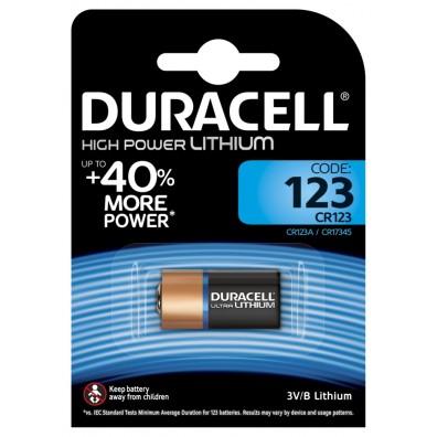 1 x Duracell DL123 CR17345 CR123 Lithium Photo Batterie 3V im Blister