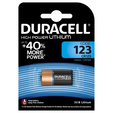 Duracell DL123 (CR17345) Ultra Lithium 3V im 1er-Blister
