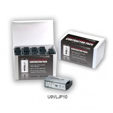 ULTRALIFE  9V Block (U9VL-J-P) Lithium-Mangandioxid in 10er-Box 1200mAh