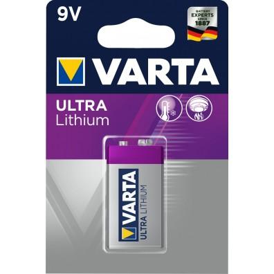 Varta – Ultra 6122 9V Block 6FR22 Lithium Batterie – 1er Blister