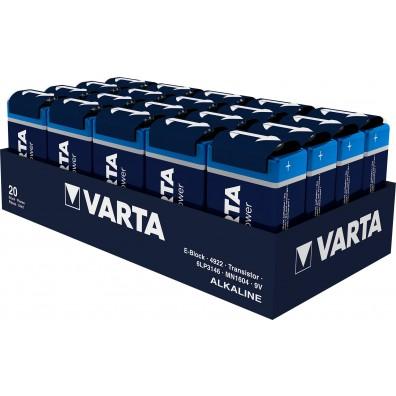 Varta 9V E-Block 4922 121 111 LONGLIFE Power in 20er-Folie