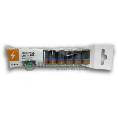 10er-Pack bestückt mit Duracell Ultra CR2 mit Eurolochstanzung