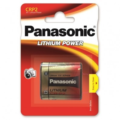 1 x Panasonic CR-P2 - DL223 Lithium Power Photo Batterie 6V im Blister