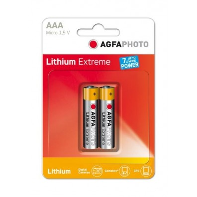 AGFA Photo – Extreme AA Mignon FR6 1.5V Lithium Batterie – 2er Blister