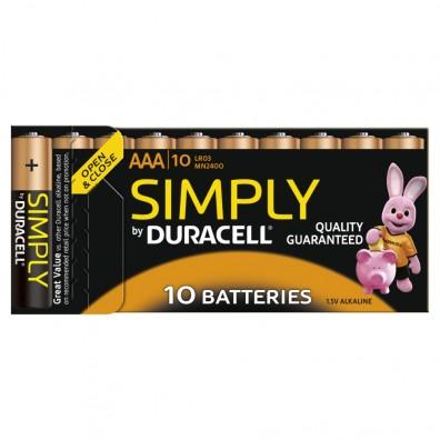 Duracell Micro MN2400 Simply in 10er-Blister (wiederverschließbar)