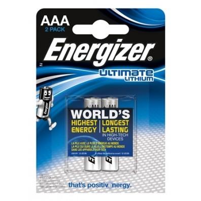 Energizer – Ultimate AAA Micro FR03 1,5V Lithium Batterie – 2er Blister