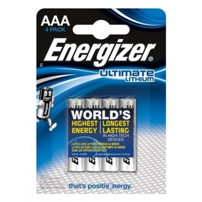 Energizer – Ultimate AAA Micro FR03 1,5V Lithium Batterie – 4er Blister