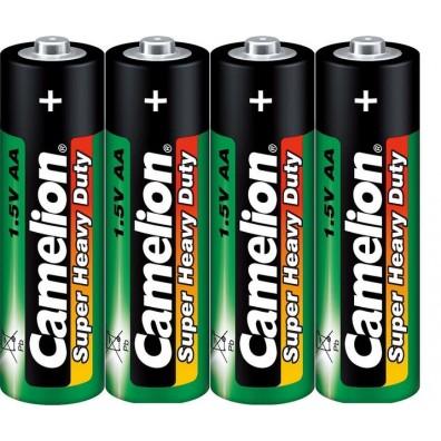 100 x Camelion R6 AA Mignon Batterien Super Heavy Duty 1,5V - Folie- Zink Kohle