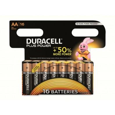 Duracell – Plus Power AA MN1500 Mignon LR6 1,5V Alkaline Batterie – 16er Blister