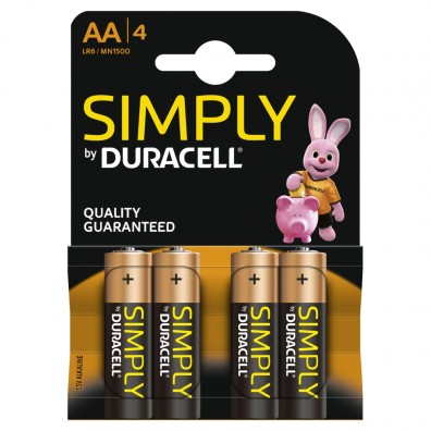 Duracell Mignon MN1500 Simply in 4er-Blister
