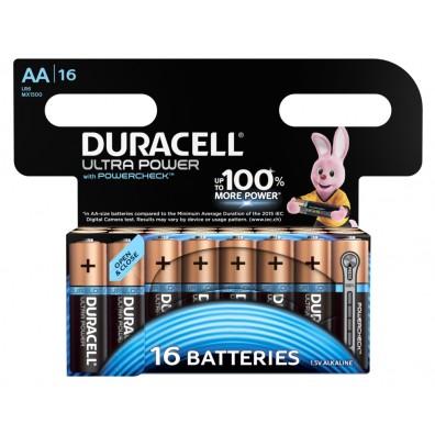 Duracell – Ultra Power AA MX1500 Mignon LR6 1,5V Alkaline Batterie – 16er Blister