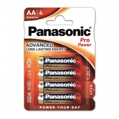 Panasonic – Pro Power AA Mignon LR6 1,5V Alkaline Batterie – 4er Blister
