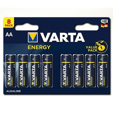 Varta – Energy 4106 AA Mignon LR6 1,5V Alkaline Batterie – 8ter Blister