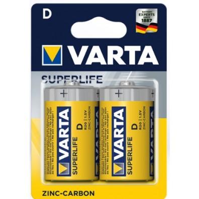 Varta – Superlife 2020 Mono D R20 1,5V Zink-Kohle Batterie – 2er Blister