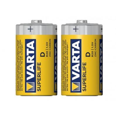 Varta – Superlife 2020 Mono D R20 1,5V Zink-Kohle Batterie – 2er Folie
