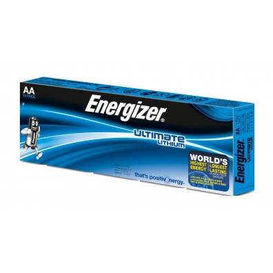 10 x Energizer Ultimate AA Mignon Lithium FR6 L91 1,5V im Karton