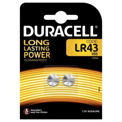 Duracell – LR43 12GA AG12 1,5V Alkaline Knopfzelle – 2er Blister