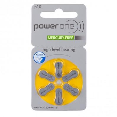 POWER ONE 10AE Hörgeräte-Knopfzellen 95mAh