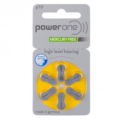 POWER ONE 10AE Hörgeräte-Knopfzellen 95mAh