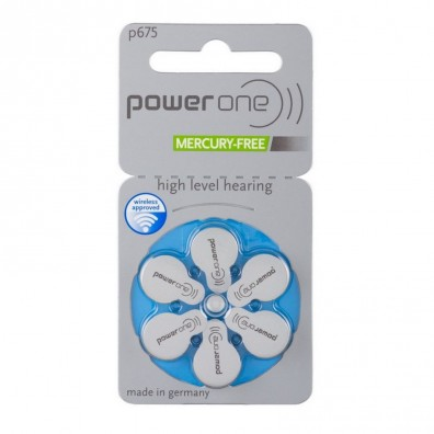 POWER ONE P675 Hörgeräte-Knopfzellen (PR44) 1,45V 650mAh