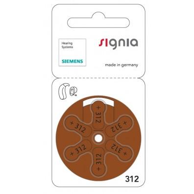 Siemens signia S312 Zinc Air PR41 ZL3 Hörgerätebatterie im 6er-Blister