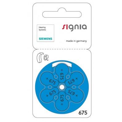 Siemens Signia S675 Zinc Air PR44 Hörgerätebatterie im 6er-Blister