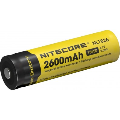 NiteCore- NL 1826 18650 2600mAh 3,7V 4A Li-Ion Akku - 1 Stück