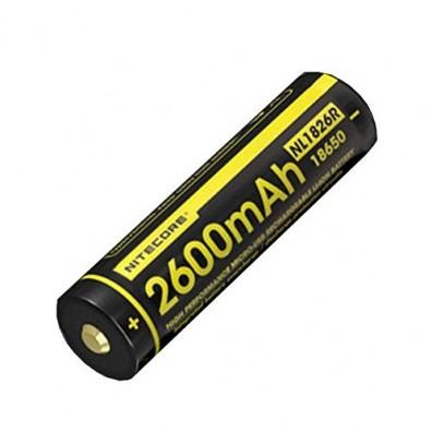NiteCore- NL 1826R 18650 2600mAh 3,7V 4A Li-Ion Akku mit Micro USB Ladeanschluss - 1 Stück