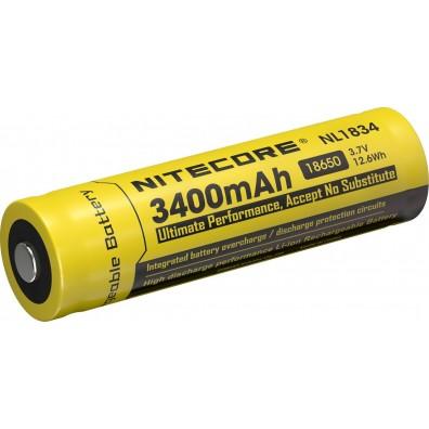 NiteCore- NL 1834 18650 3400mAh 3.6V - 3.7V 3A Li-Ion Akku - 1 Stück