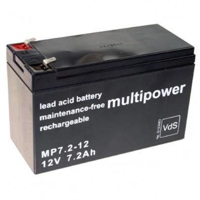 Multipower MP7,2-12 Bleiakku 12V 7,2Ah m. 4,8 mm Faston