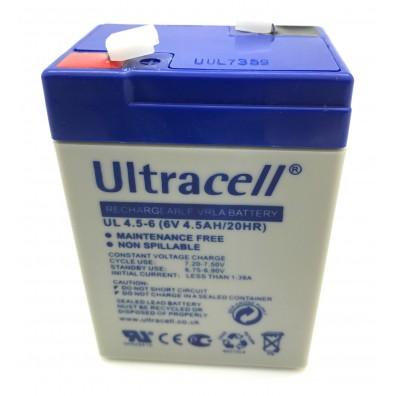Ultracell UL 4.5-6 Bleiakku 6V 4,5Ah mit 4,8mm Faston