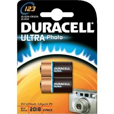 Duracell – CR123 CR17345 3V Lithium Batterie – 2er Blister
