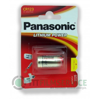 Panasonic – CR123 CR17345 3V Lithium Batterie – 10 x 1er Blister