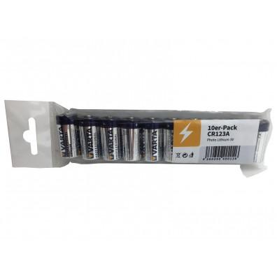 Varta – CR123 6205 CR17345 3V Lithium Batterie – 10er Folie