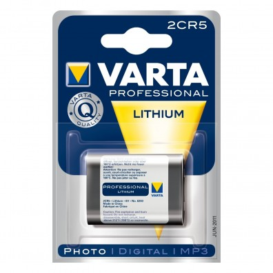 Varta – 2CR5 6203 245 6V Lithium Batterie – 1er Blister