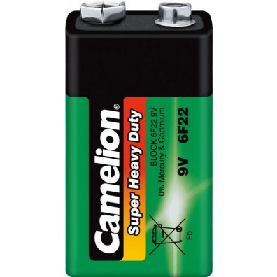 Camelion – Super Heavy Duty 9V-Block 6F22 Zink Kohle Batterie – 1er Folie