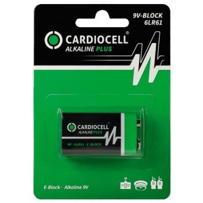 Cardiocell – Plus 9V Block 6LR22 Alkaline Batterie – 1er Blister