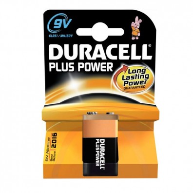 Duracell – Plus Power 9V Block MN1604 6LR22 Alkaline Batterie – 1er Blister